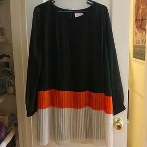 Romeo And Juliet Couture Black Orange Tan Dress